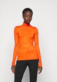 Dorothy Perkins Tall - PEARL BUTTON CUFF ROLL NECK - Jumper - orange - 0