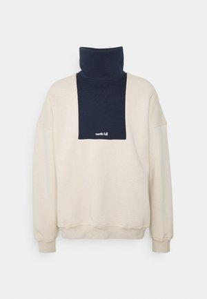 COLORBLOCK LOGO TURTLENECK - Sweatshirt - beige/navy
