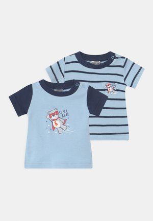 BOYS 2 PACK - Print T-shirt - blue/dark blue