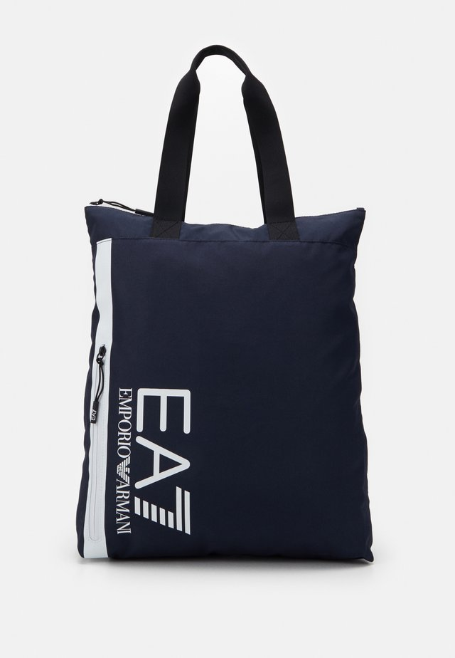 UNISEX - Tote bag - night blue/white