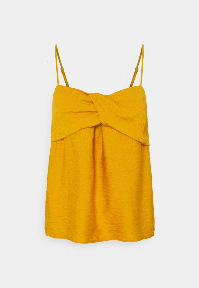 TWIST BODICE - Top - golden yellow