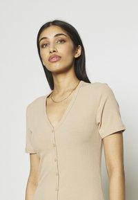 Vero Moda - VMARIA SHORT BUTTON DRESS - Jersey dress - beige - 4