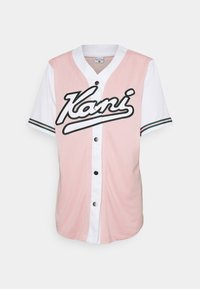 Karl Kani - VARSITY BLOCK BASEBALL - Print T-shirt - rose - 3