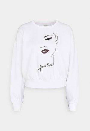 ONLZITA LIFE SHORT LIPS BOX - Sweatshirt - bright white