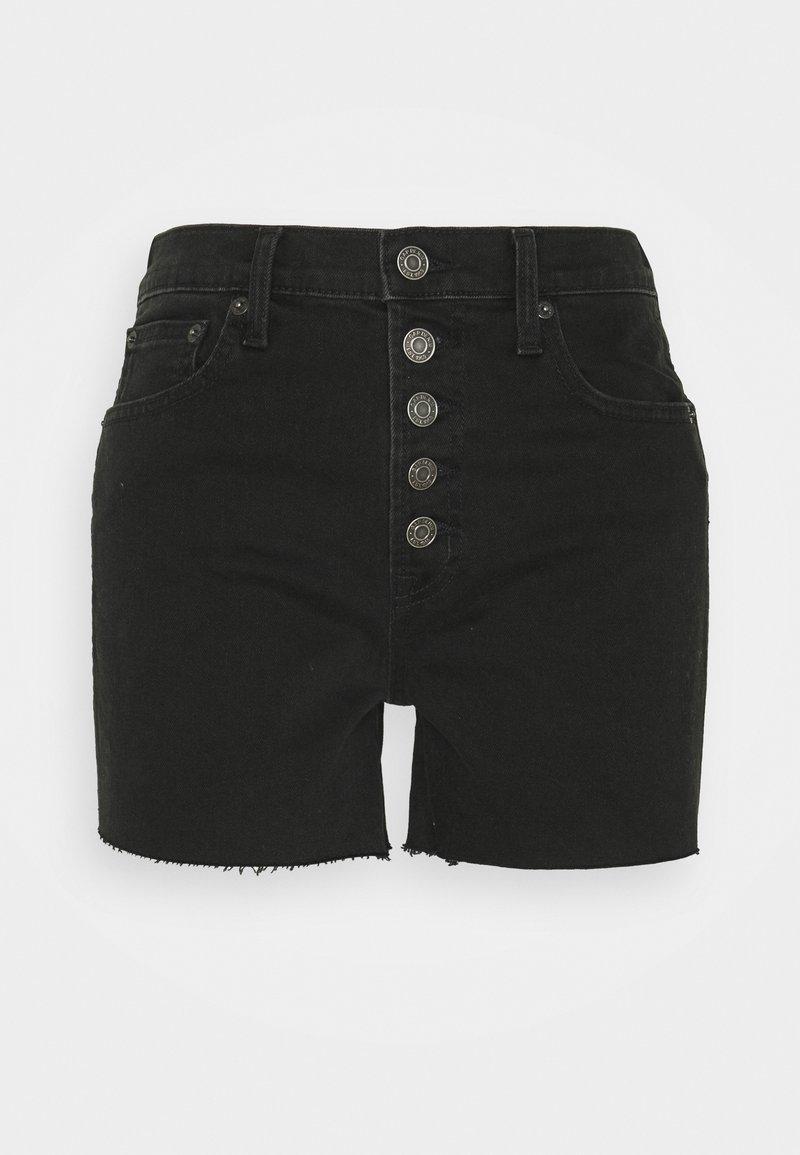 GAP - BLACK NEMO  - Denim shorts - washed black