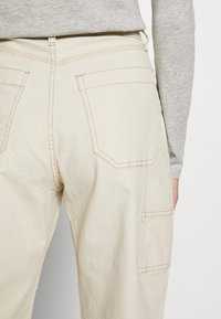 GAP - HIGH RISE CARPENTER - Spodnie materiałowe - french vanilla - 3