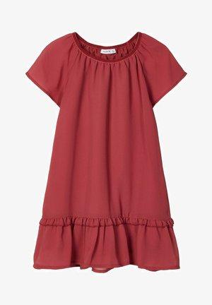 Korte jurk - earth red
