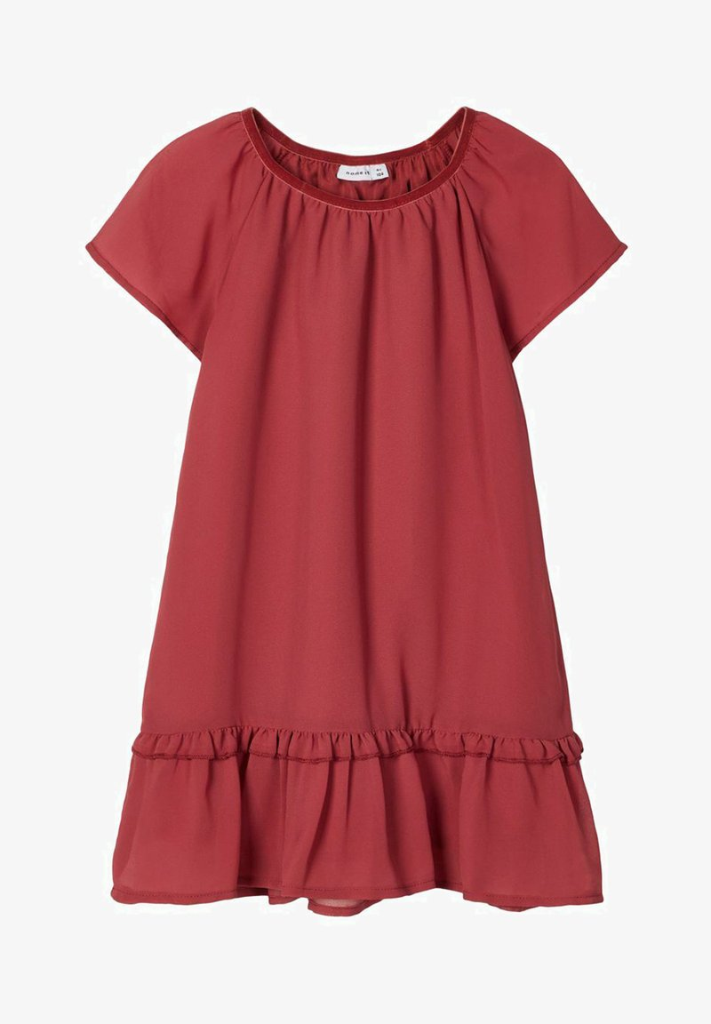 Name it - Day dress - earth red