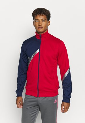 TAN CLUB - Training jacket - scarle/navblu