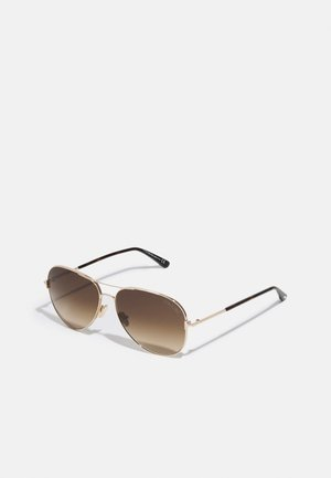 Sunglasses - shiny rose gold/gradient brown