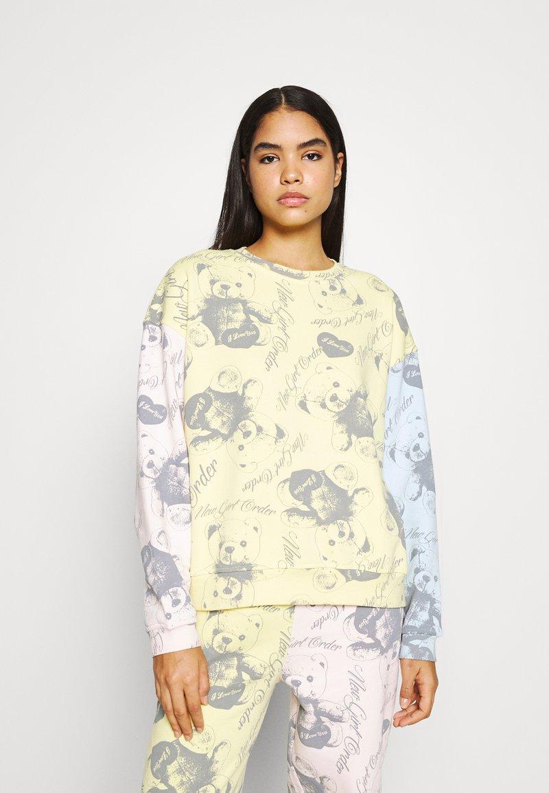 NEW girl ORDER - BEAR PANEL - Sweatshirt - multi