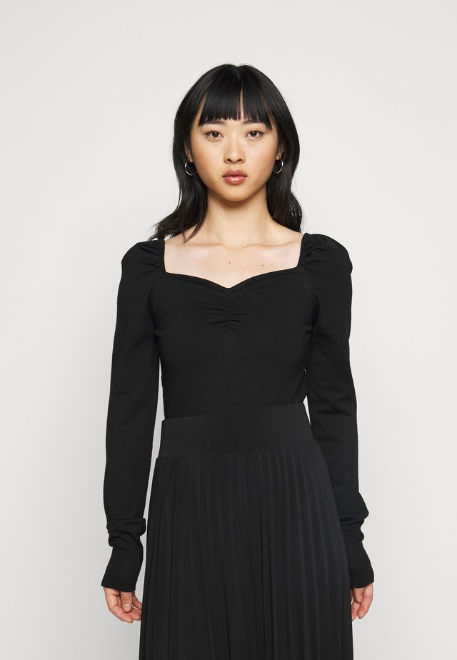 SWEETHEART NECKLINE JUMPER - Jumper - black