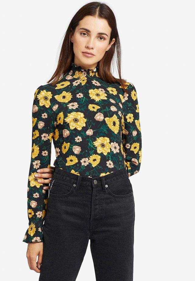 ANNKEA - T-shirt à manches longues - black/yellow