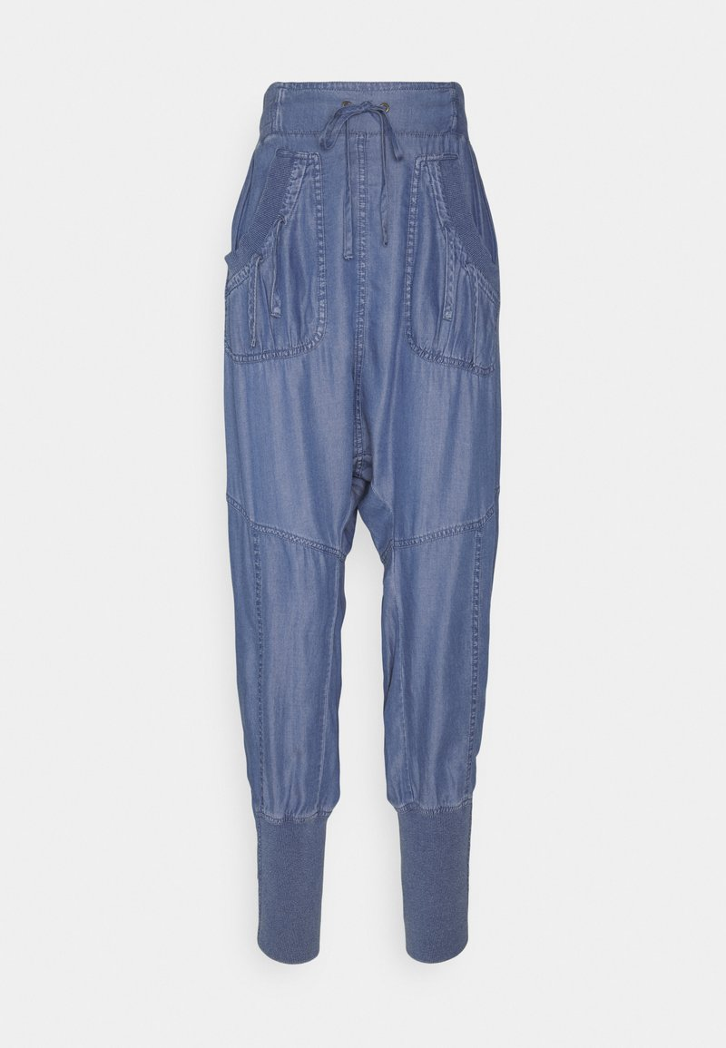 Cream - KAREN PANT - Trousers - medium blue denim