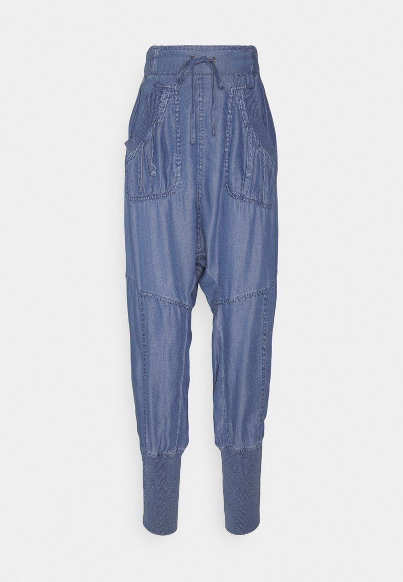 Cream - KAREN PANT - Trousers - medium blue denim