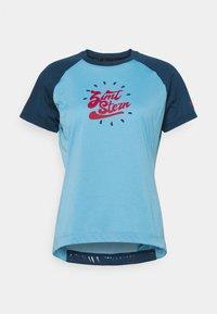 Zimtstern - PUREFLOWZ WOMENS - Print T-shirt - heritage blue/french navy - 0