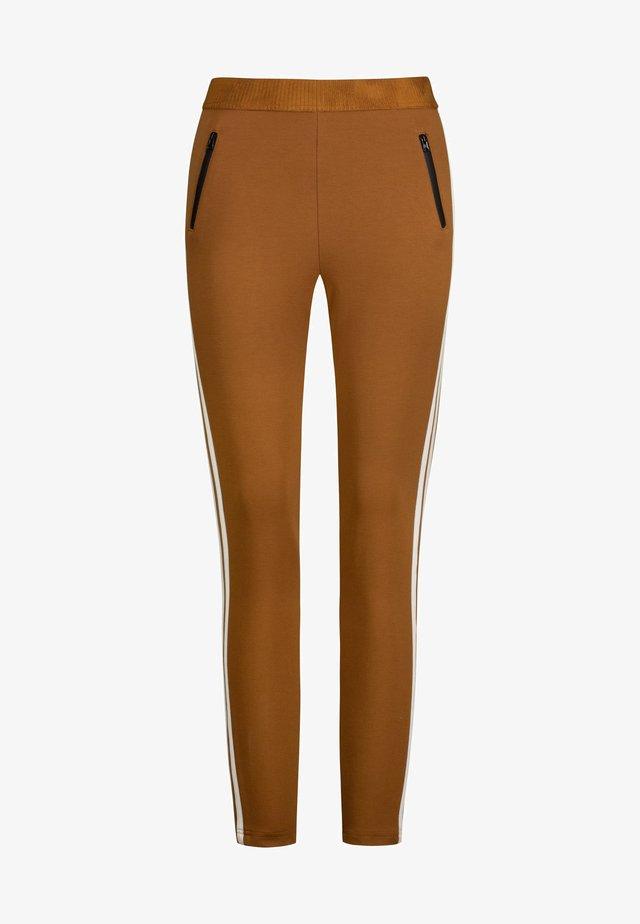 Leggings - Trousers - praline-zweifarbig