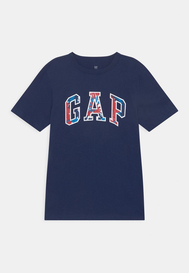 GAP - BOYS LOGO - T-shirt imprimé - elysian blue