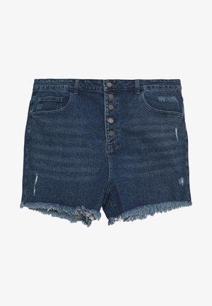 BUTTON FRONT MOM - Short en jean - light denim