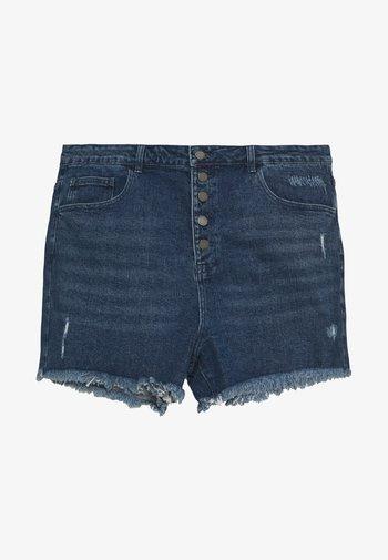 BUTTON FRONT MOM - Shorts di jeans - light denim