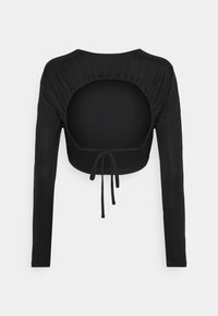 NA-KD - OPEN BACK TIE  - Long sleeved top - black - 1