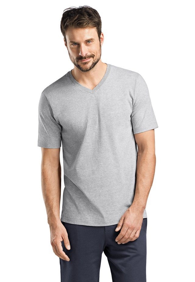 LIVING - Basic T-shirt - grey melange