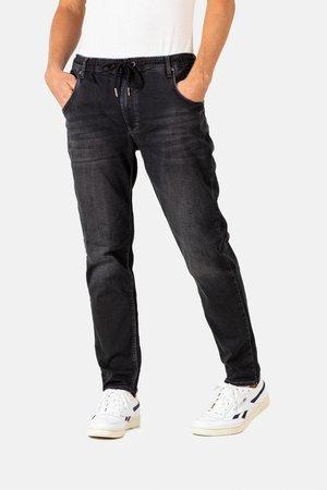 JOGGER JEANS - Straight leg jeans - black wash