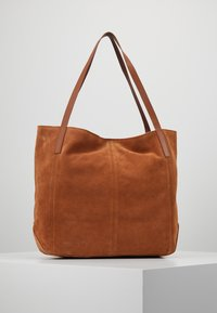 Anna Field - LEATHER - Shopping bag - cognac - 2