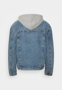 Sixth June - DENIM JACKET WITH SHERPA LINING AND HOOD - Spijkerjas - blue/grey - 1