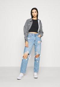 American Eagle - MOM PRIDE - Straight leg jeans - sapphire mist - 1