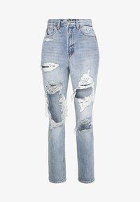 HIGHEST RISE MOM - Straight leg jeans - indigo skylight