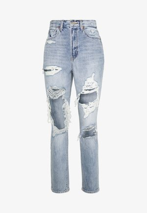 HIGHEST RISE MOM - Straight leg jeans - indigo skylight