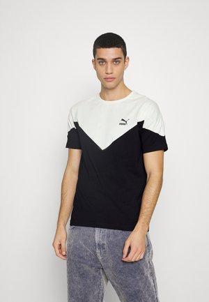 Print T-shirt - black/ivory glow