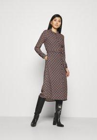 King Louie - OLIVE DRESS PALMER - Košilové šaty - black - 0