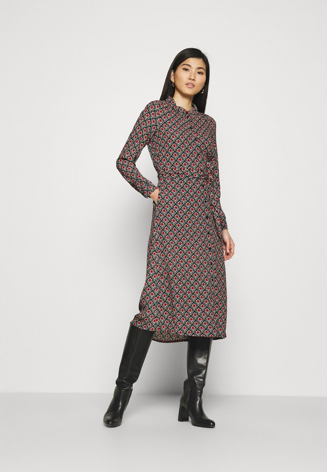 OLIVE DRESS PALMER - Shirt dress - black