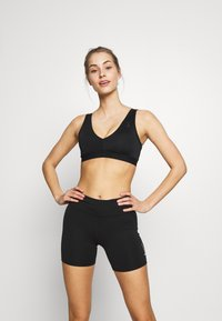Nike Performance - FAVORITES NOVELTY BRA - Sport BH - black/smoke grey - 0