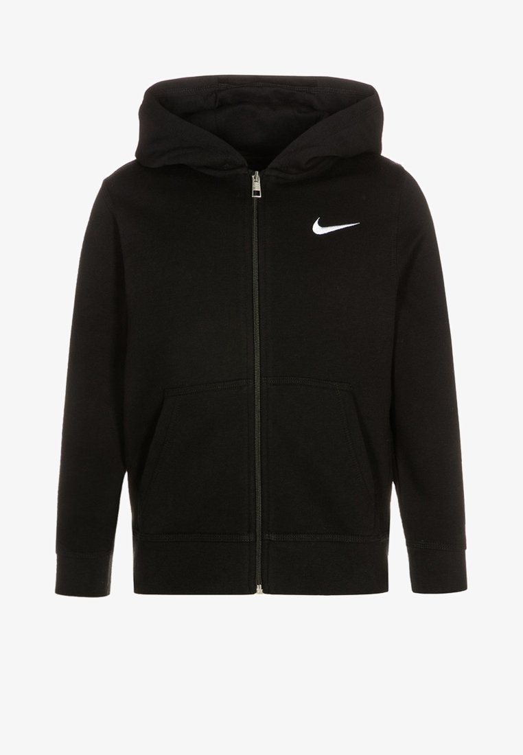 Nike Performance - FULL ZIP - Zip-up hoodie - black/white