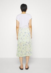 Abercrombie & Fitch - PLEATED MIDI - A-line skjørt - white - 2