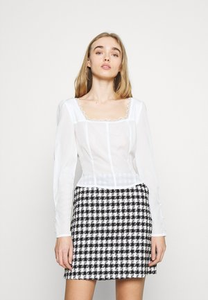 LONG SLEEVES SQUARE NECKLINE AND SMOCKED BACK - Blůza - off white