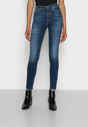EXPOSED BUTTON - Jeansy Skinny Fit - blue river