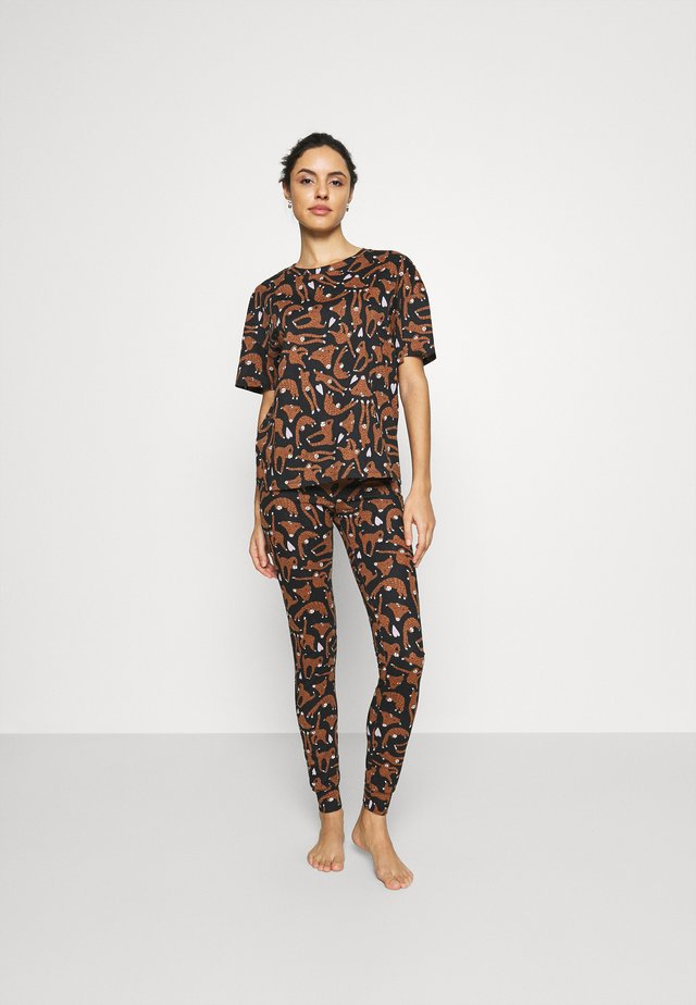 NIGHT JOSIE SET - Pyjama - black