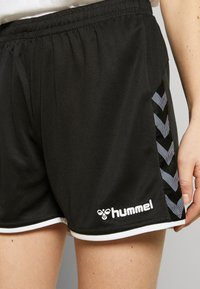 Hummel - HMLAUTHENTIC  - Korte broeken - black/white - 4