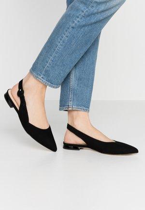 Slingback ballet pumps - schwarz