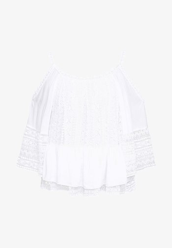 OLIMPIA TOP - Blouse - blanc pur