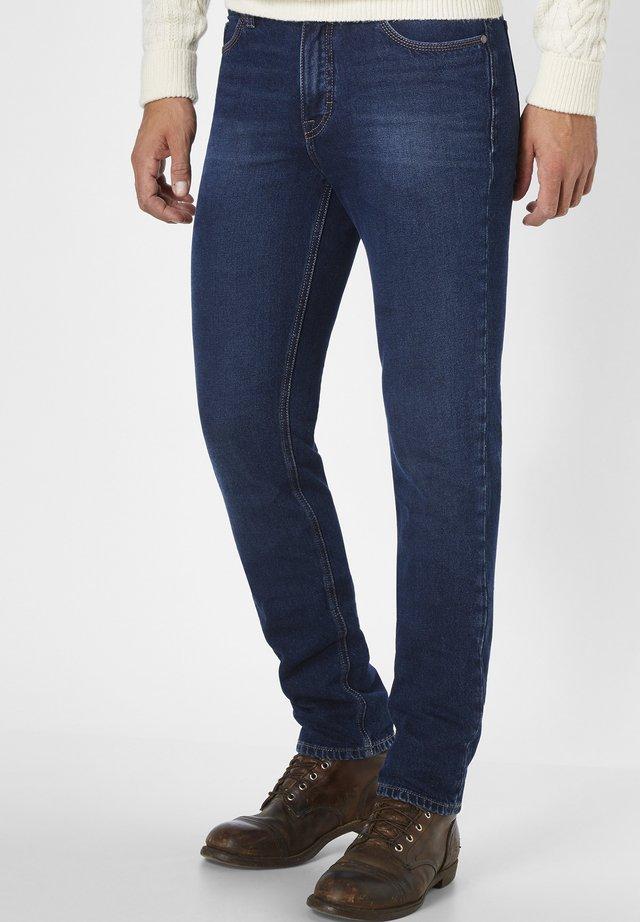 MIT KONTRASTFARBIGEM STITCHING RANGER - Slim fit jeans - blue black moustache used