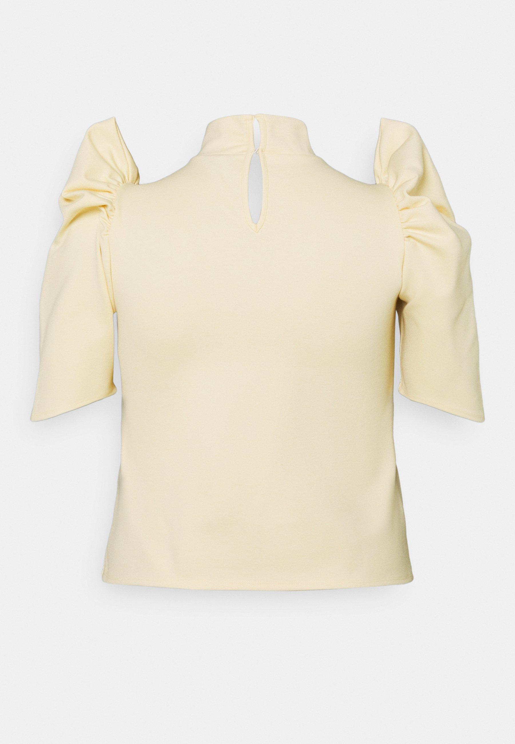 Pieces Curve Pcrylee - T-shirts Fog/beige