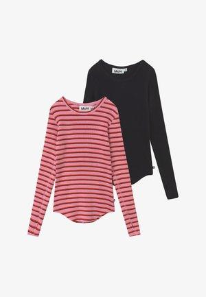 ROCHELLE 2 PACK  - Top sdlouhým rukávem - pink/red/black
