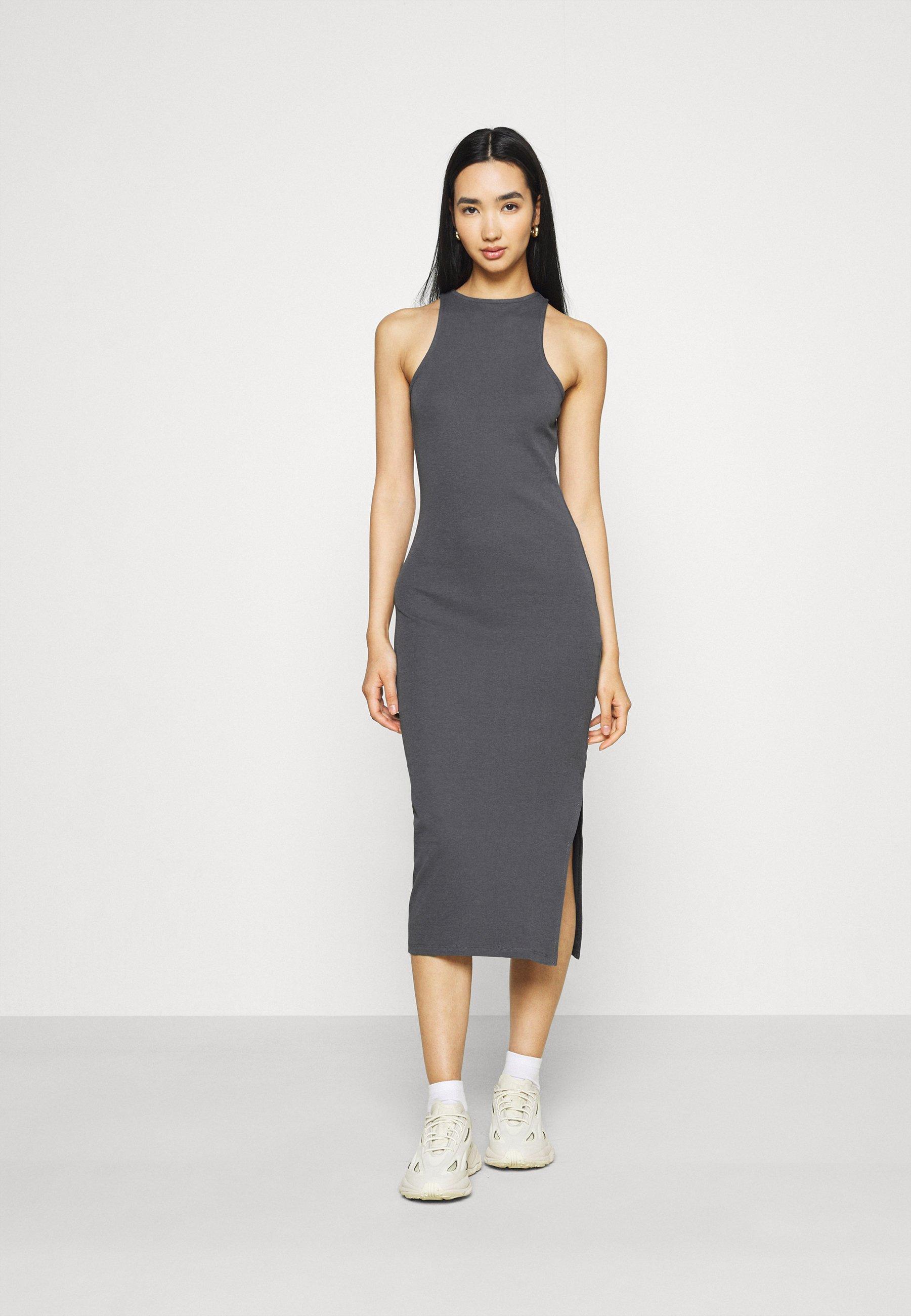 Women SPORTY HIGH NECK DRESS - Jersey dress