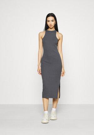 SPORTY HIGH NECK DRESS - Jersey dress - offblack