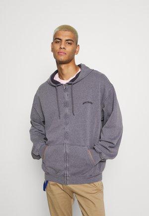 ZIP UP HOODIE UNISEX - Zip-up sweatshirt - mauve